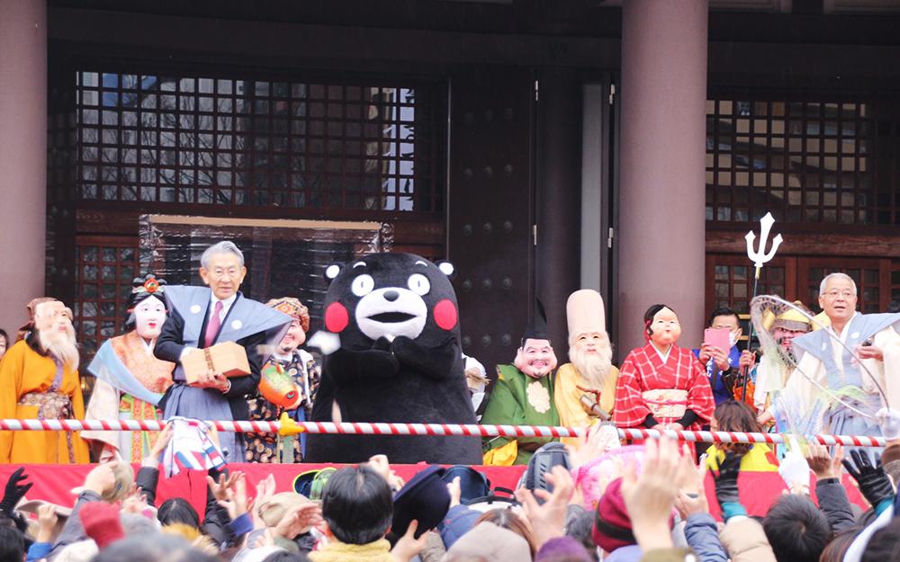 今年も節分祭にくまモンがやって来る〜!